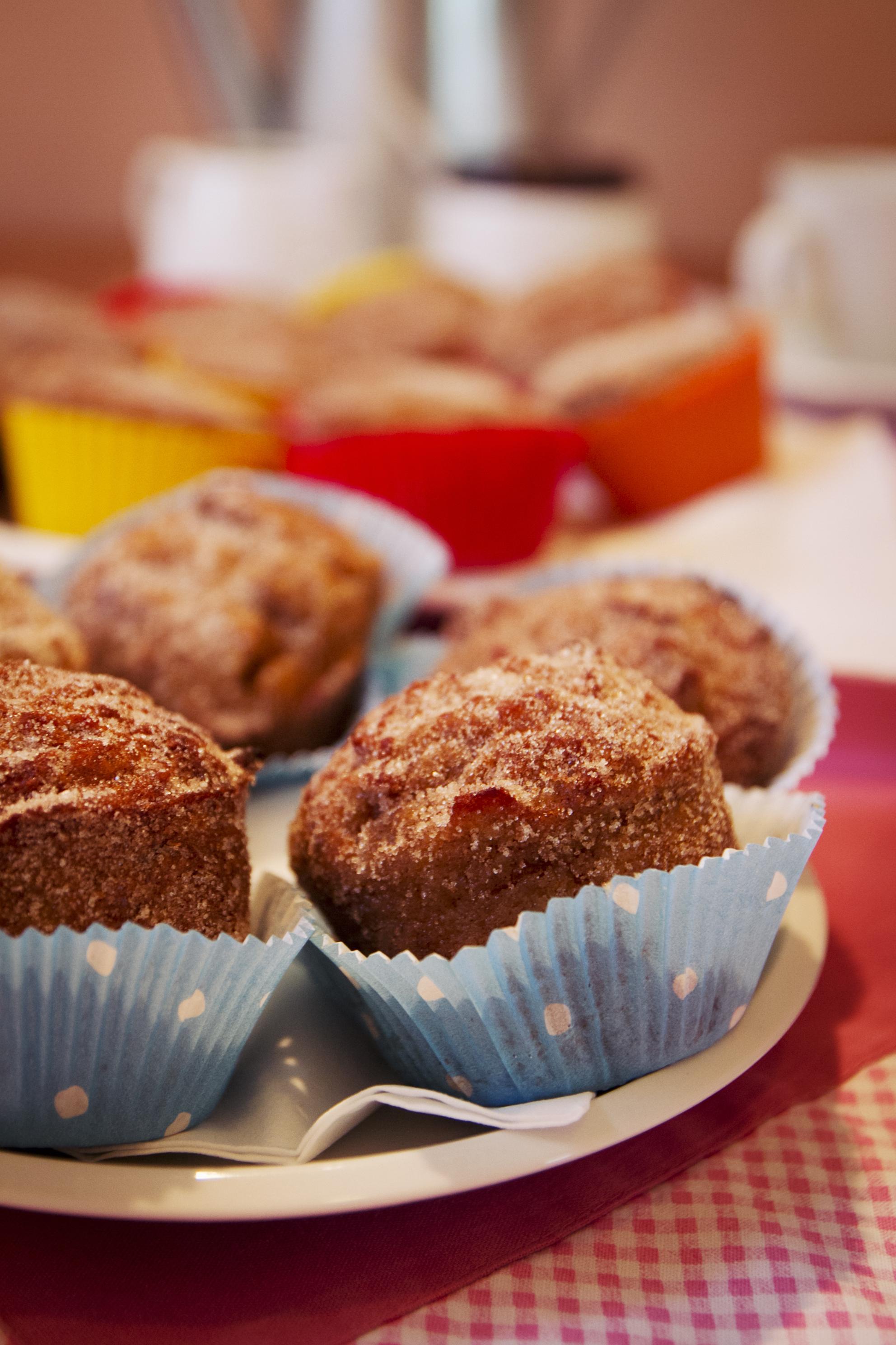 Jablečné muffiny v detailu