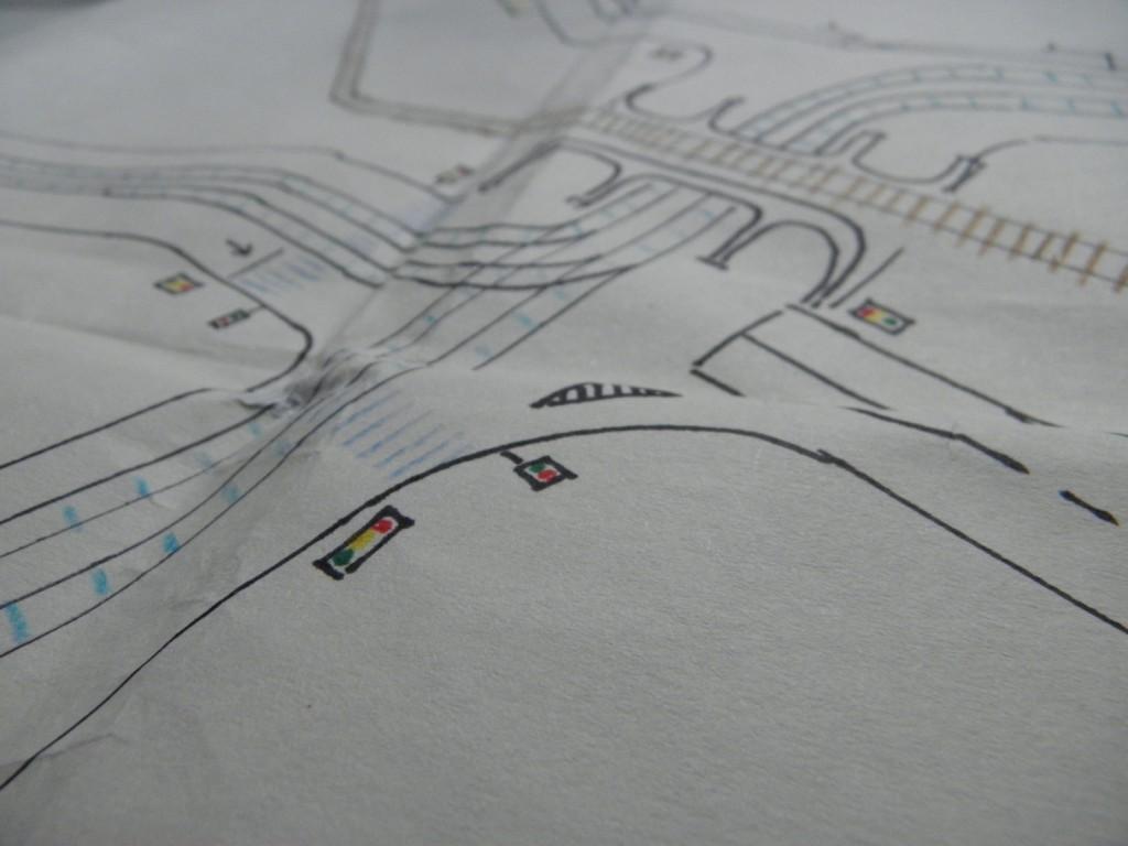 detail křižovatky