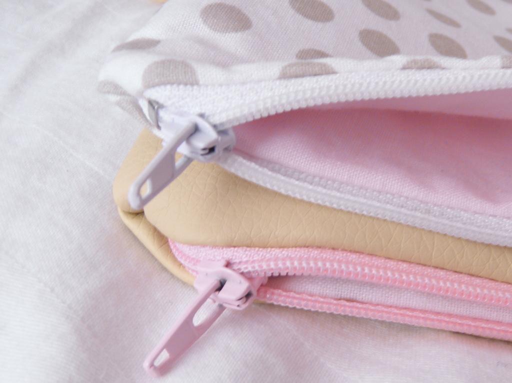 pastelové zipy