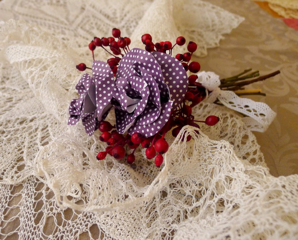 Podzimní květina z papíru