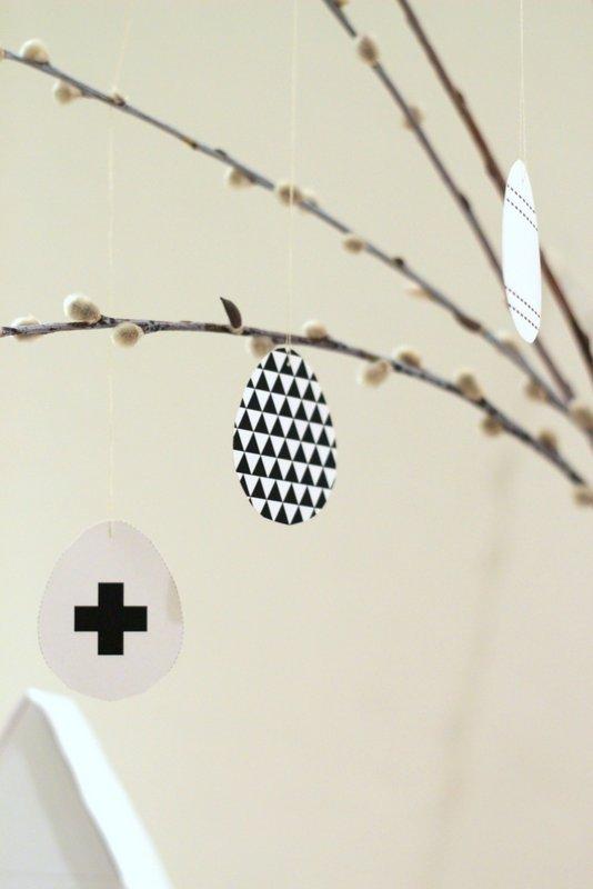 Černobílé Velikonoce - vajíčka