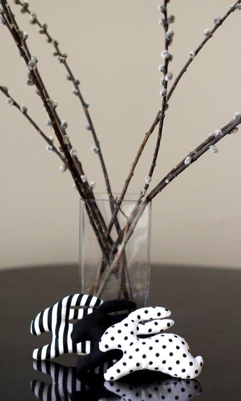 Černobílé Velikonoce - dekorace