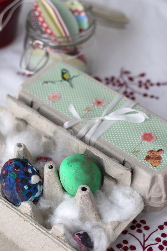 Velikonoční tvoření z papíru - Krabička na vajíčka