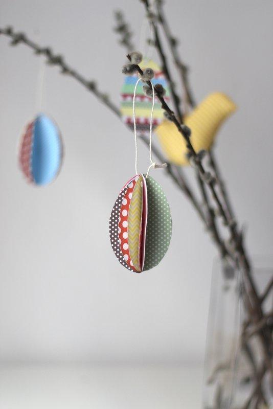 Velikonoční tvoření z papíru - vajíčka z papíru