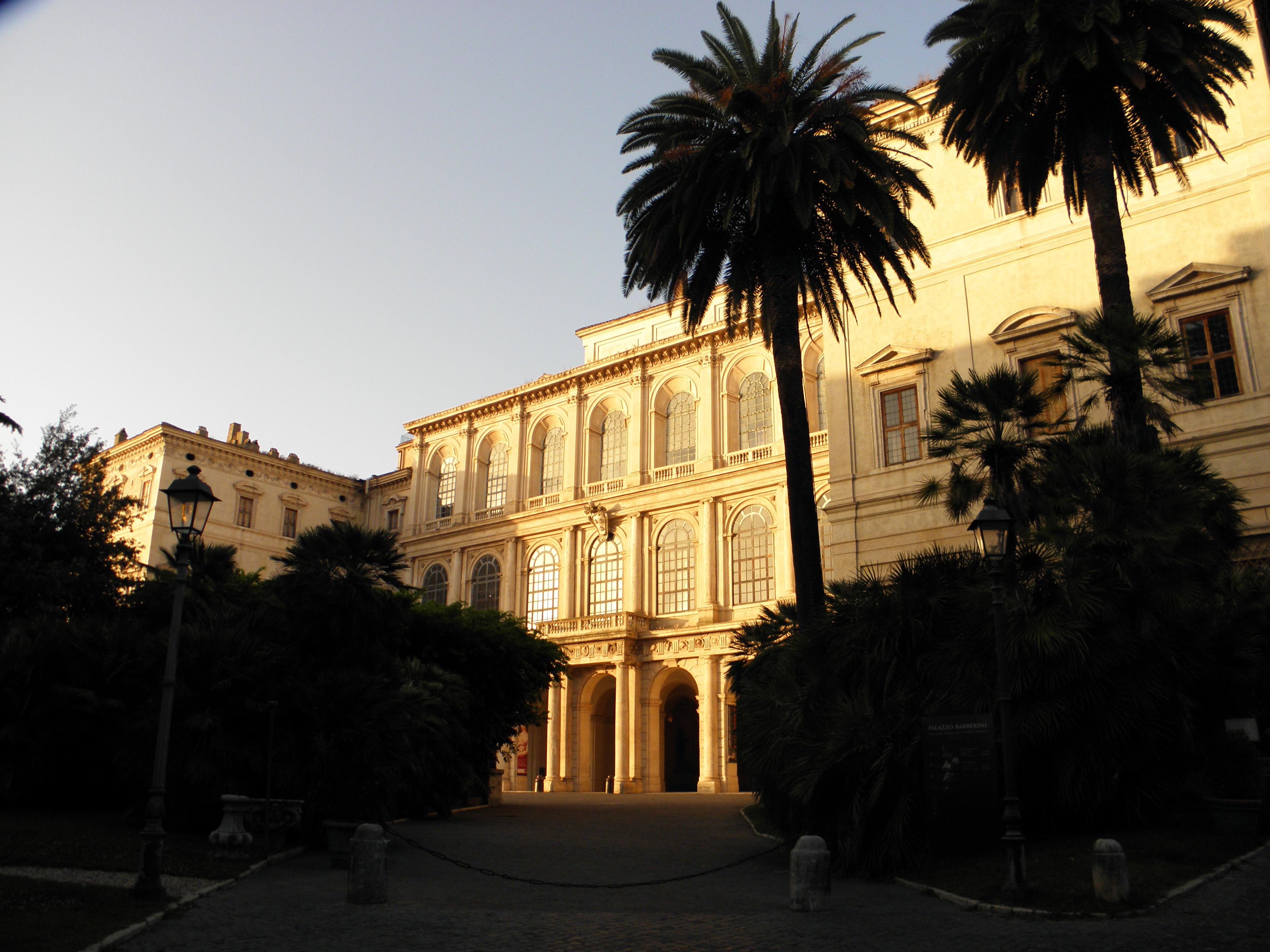 západ slunce v Římě