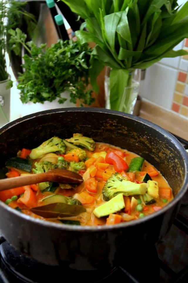 zelenina na kari